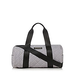 Red Herring - Grey quilted weekender bag