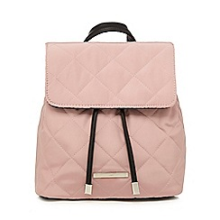 Red Herring - Pink flap quilted backpack