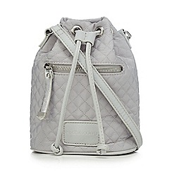 Red Herring - Grey quilted duffle bag
