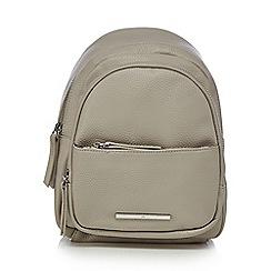 Red Herring - Light grey asymmetric strap backpack