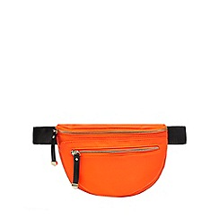 Red Herring - Orange zip through bum bag