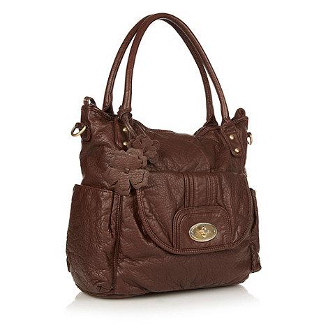 Mantaray - Brown flower charm shoulder bag