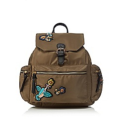 Red Herring - Khaki badge backpack