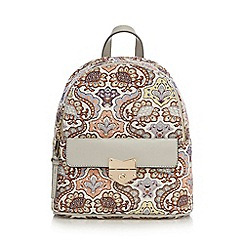 Red Herring - Multi-coloured floral embroidered backpack