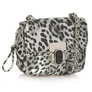 Metallic animal cross body bag