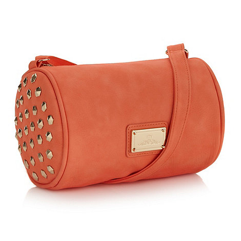 Red Herring - Coral mini studded barrel bag