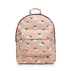 Mi-Pac - Light pink pug print large backpack