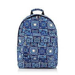 Mi-Pac - Blue kaleidoscope print backpack