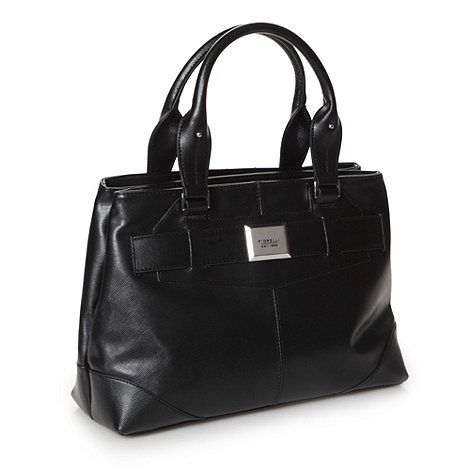 Fiorelli - Black crosshatch tote bag
