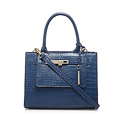 J by Jasper Conran - Blue croc print grab bag