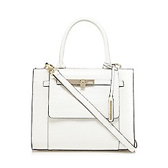 J by Jasper Conran - White croc print grab bag