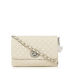 Marc B - Light cream quilted clutch bag