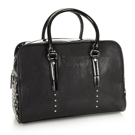 Versace Jeans - Black studded large grab bag
