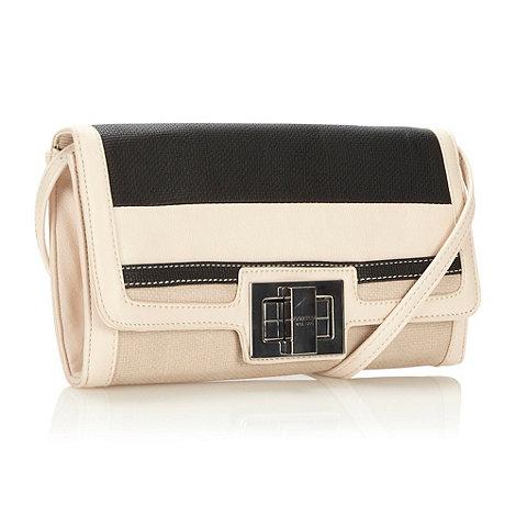 Fiorelli - Cream stripe panelled clutch bag