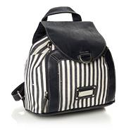 Blue Striped Backpack