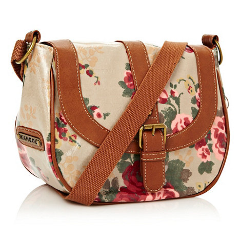 Kangol - Brown floral across body bag