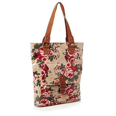 Kangol - Brown floral shopper bag