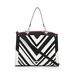 LYDC - Black vertical striped grab bag