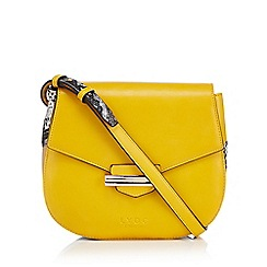 LYDC - Mustard snakeskin print cross body bag