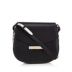 LYDC - Black snakeskin print cross body bag