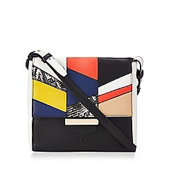 LYDC - Black contrast flap cross body bag
