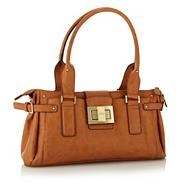 Tan medium faux leather shoulder bag