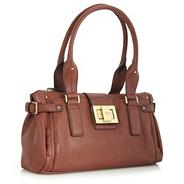 Brown Buckle Shoulder Bag