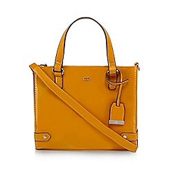 The Collection - Dark yellow patent three compartment grab bag
