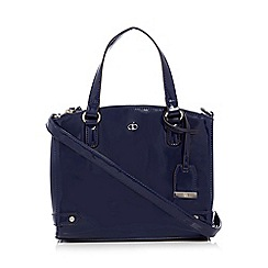 The Collection - Navy patent three compartment grab bag