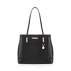 The Collection - Black large panelled tote bag