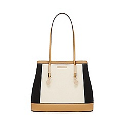 The Collection - Cream panelled tote