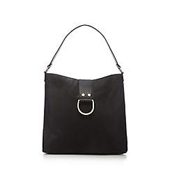 The Collection - Black slouchy shoulder bag