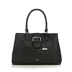 The Collection - Black buckle shoulder bag