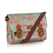 Light Green Tulip Flower Satchel Bag