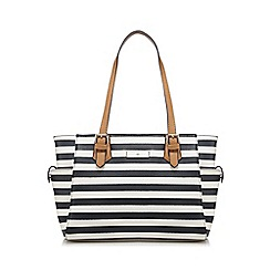 The Collection - Navy striped print grab bag