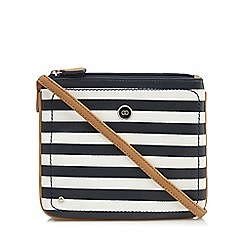 The Collection - Navy striped cross body bag