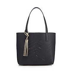 The Collection - Navy zig zag cut-out grab bag