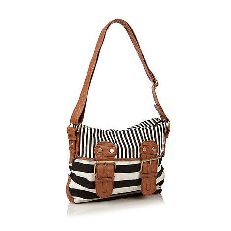 Call It Spring - Black striped cross body bag