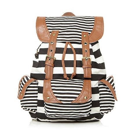Call It Spring - White stripe pattern rucksack