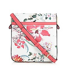The Collection - Multi-coloured floral print cross body bag