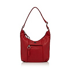 The Collection - Red faux leather scoop bag