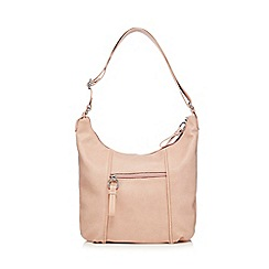 The Collection - Light pink faux leather scoop bag