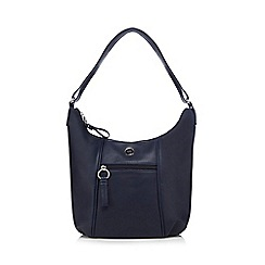 The Collection - Navy faux leather scoop bag
