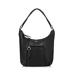 The Collection - Black faux leather scoop bag