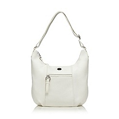 The Collection - White scoop shoulder bag
