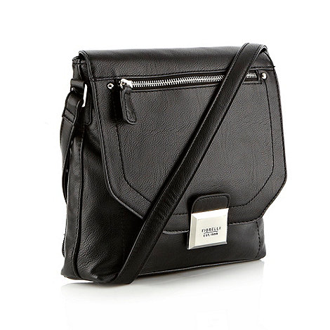 Fiorelli - Black faux leather flapover across body bag