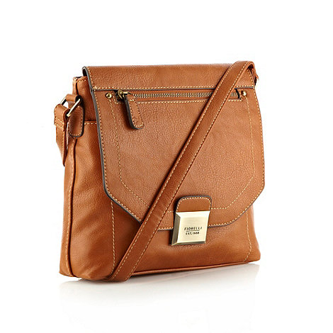 Fiorelli - Tan faux leather flapover across body bag