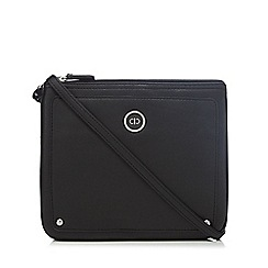 The Collection - Black zip top cross body bag