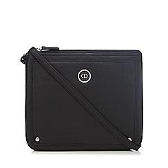 The Collection - Black zip top cross body bag