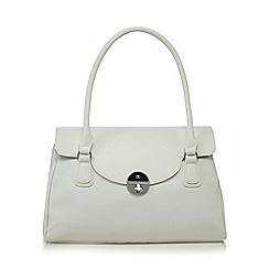 The Collection - White twist lock shoulder bag